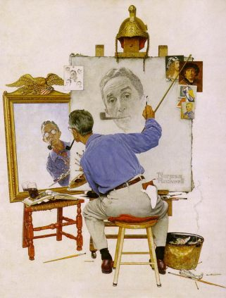 Painting by Norman Rockwell (1894-1978), American painter